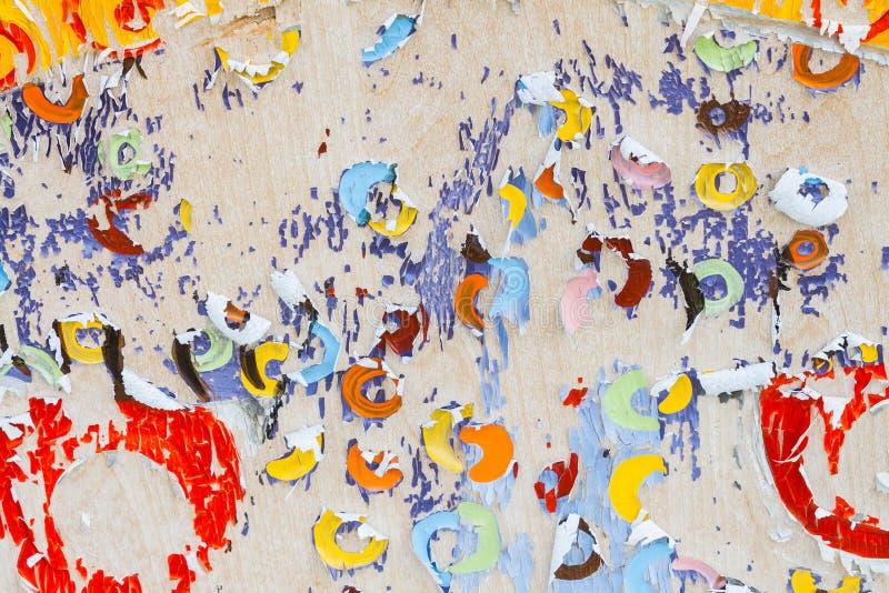 Art déchiré coloré de papier photographie stock libre de droits