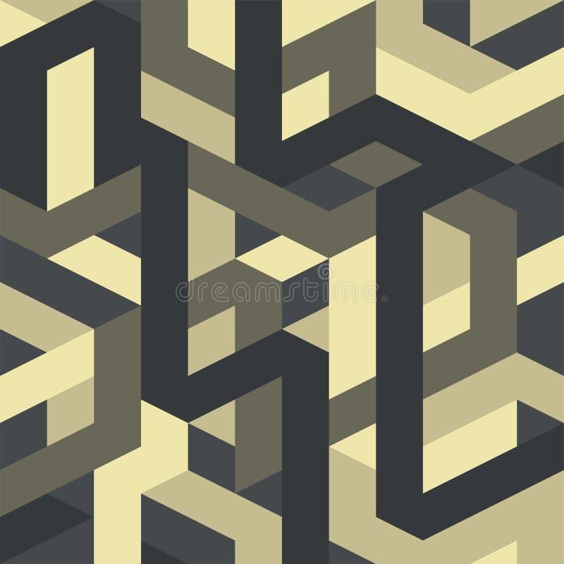 Art déco gótico del vector geométrico abstracto del modelo libre illustration