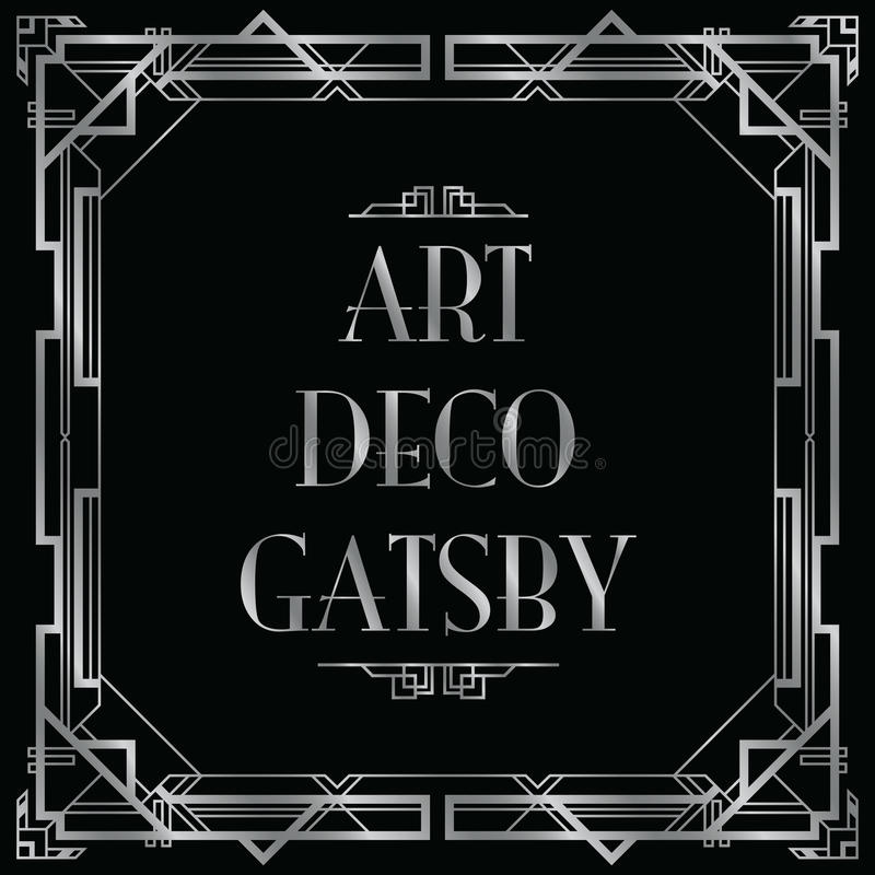 Art déco gatsby libre illustration