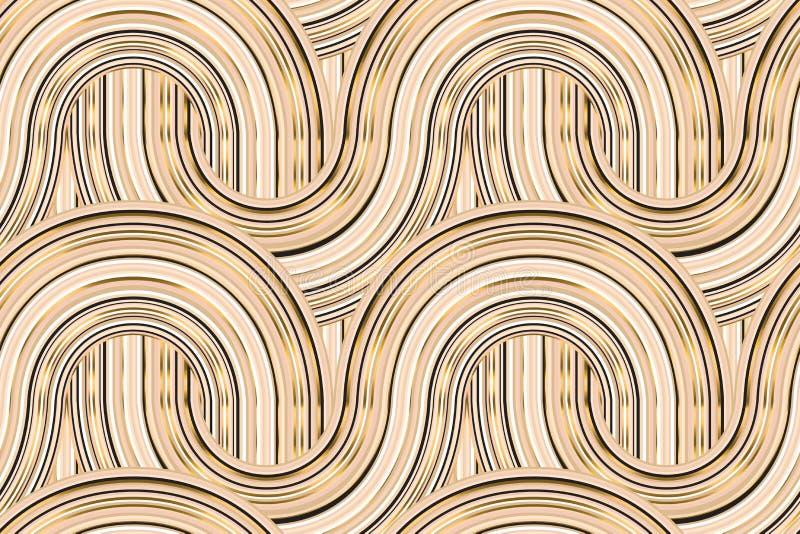 Art déco inspirerad geometrisk modell för rund kurva royaltyfri illustrationer