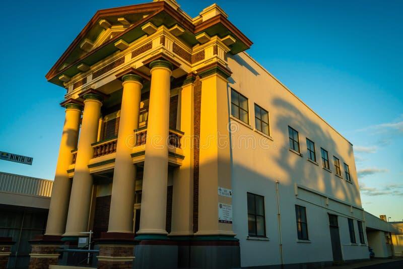 Art déco maçonnique de hall construisant dans Mackay, Australie photo stock