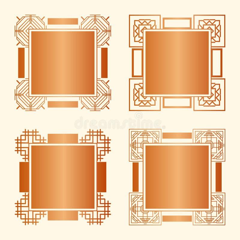 Art décoramar vektor illustrationer