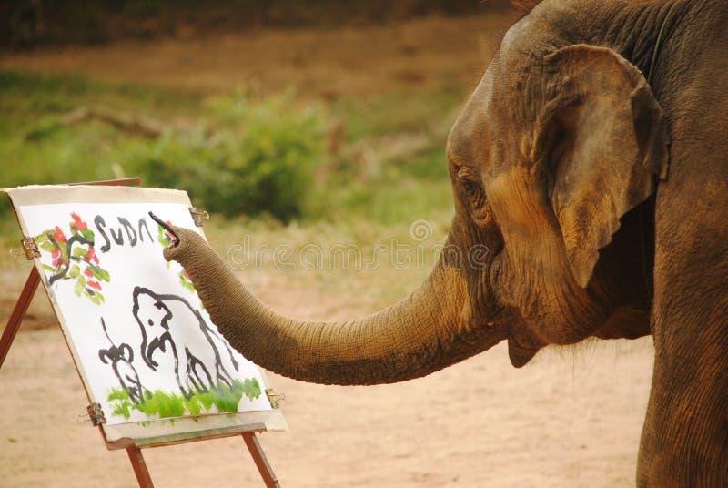 Art d'éléphant images libres de droits