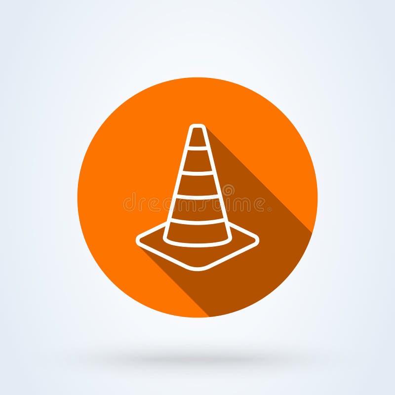 Art d'ensemble de sécurité de cône du trafic Illustration moderne de conception d'icône de vecteur simple illustration libre de droits