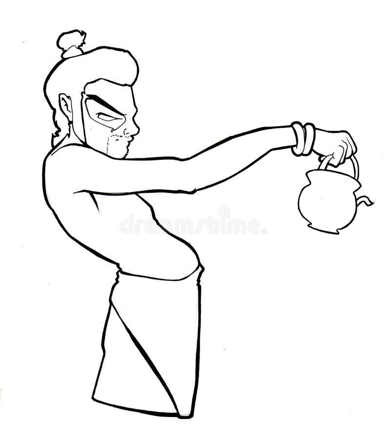 Art d'houblon de gratte-cul illustration de vecteur