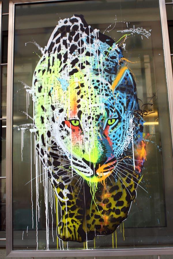Art dans la rue - panthère photos stock
