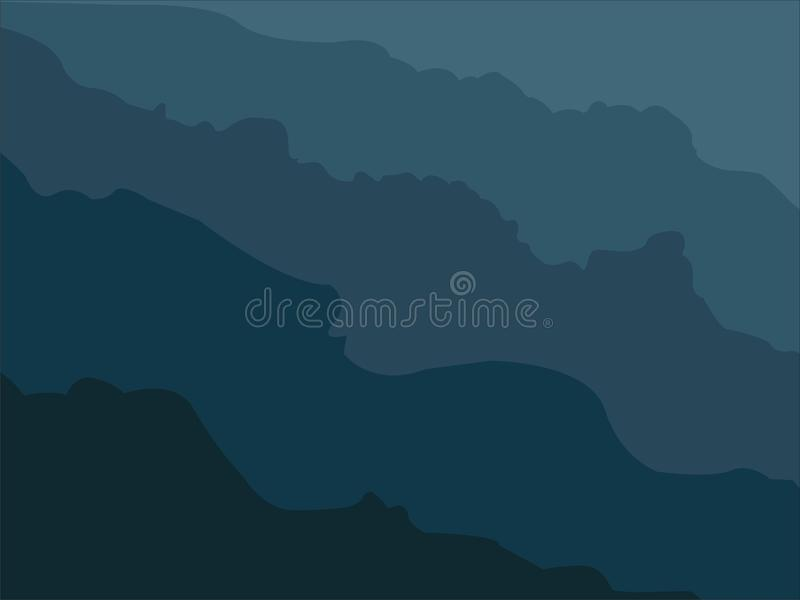 The art dark blue painting. The dark blue is colors for the main painting wallpaper like cloud and sky stock illustration