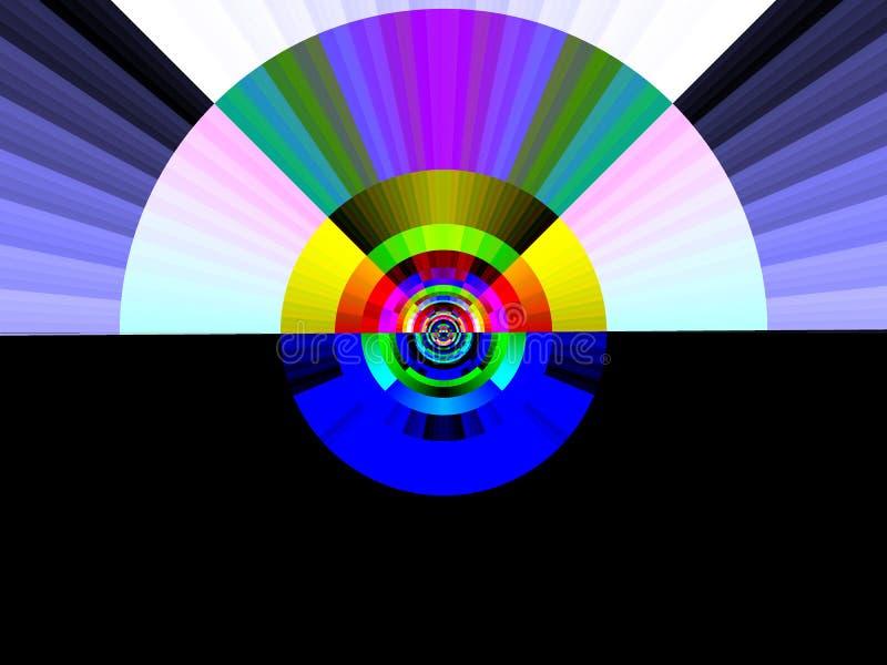 art dawn pop rainbow διανυσματική απεικόνιση