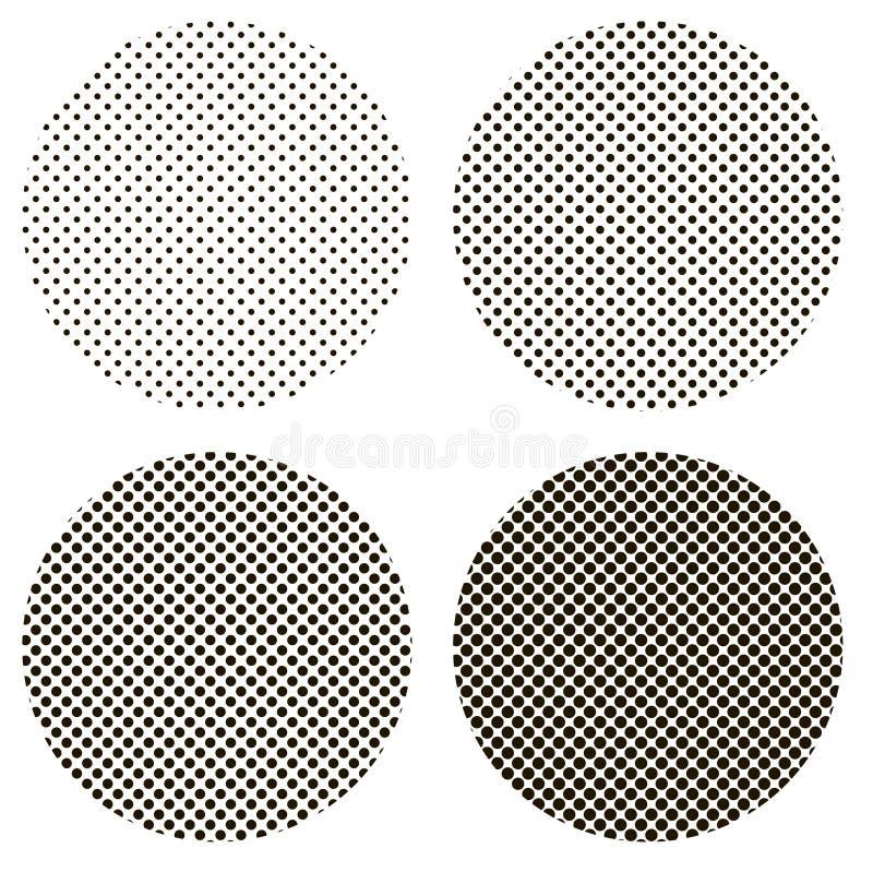 Art de bruit de modèle de points de cercle illustration libre de droits
