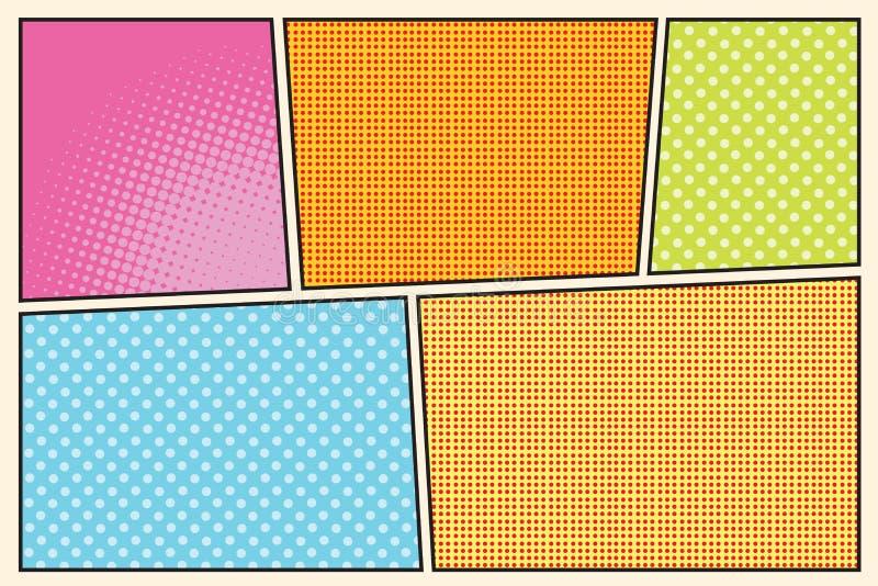 Art de bruit de style de story-board de bande dessinée illustration de vecteur