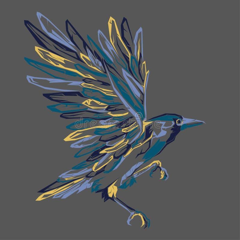 art de bruit ?l?gant d'oiseau illustration stock