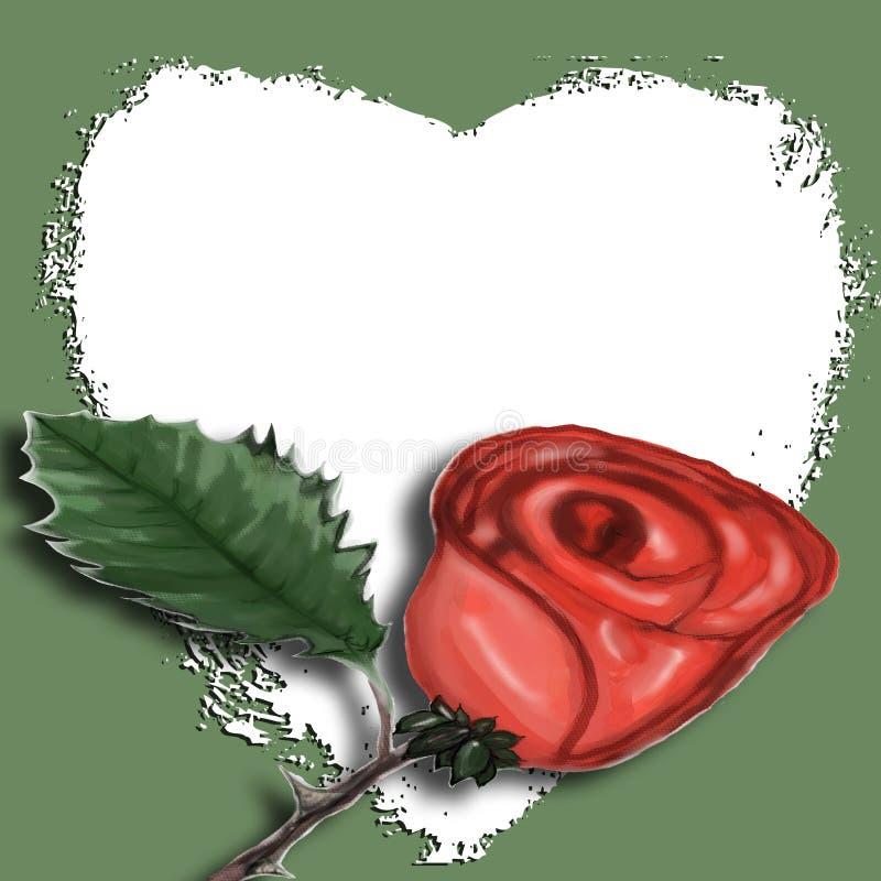 Art de bruit - Rose avec le coeur illustration libre de droits