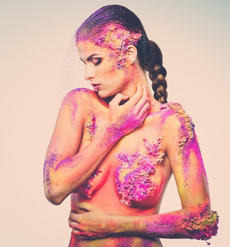 Art de corps conceptuel sur une femme images libres de droits