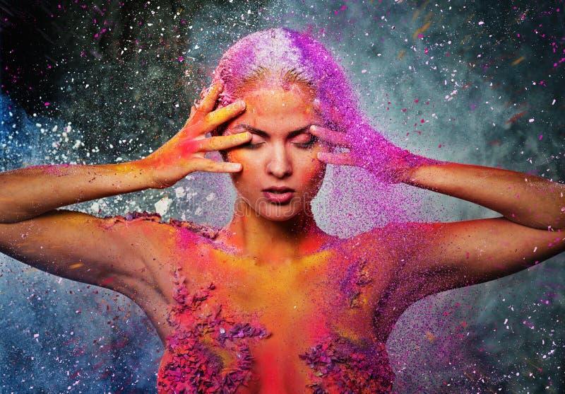 Art de corps conceptuel sur une femme photo libre de droits