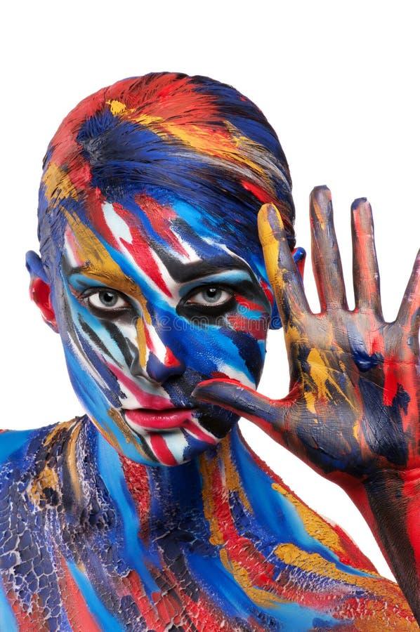 Art de corps de couleur de beauté de mode image libre de droits