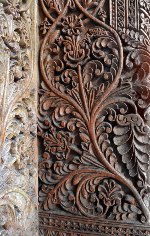 Art de découpage en bois de Bali photo stock