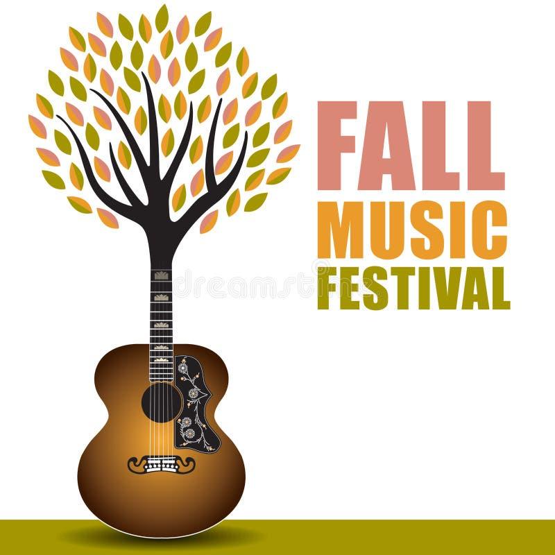 Art de festival de musique de chute illustration libre de droits
