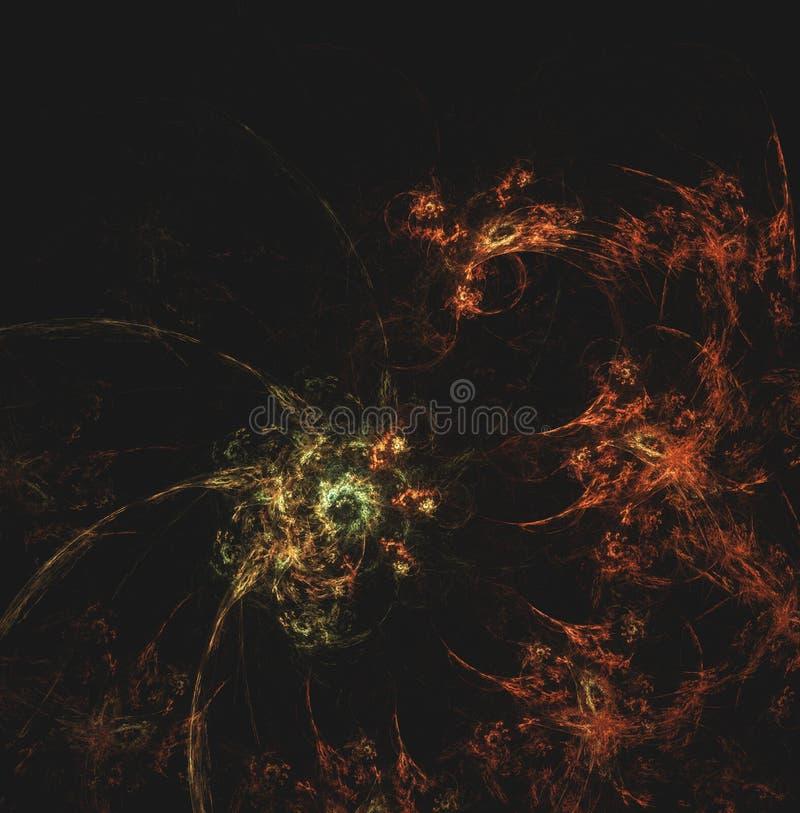 Art de fractale de neurone et de feu image libre de droits