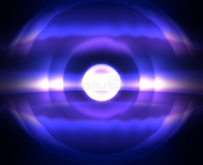 Art de gradient L'espace cosmique de nuit mystique avec l'étoile froide du soleil Fond bleu pour l'impression et le Web photos stock