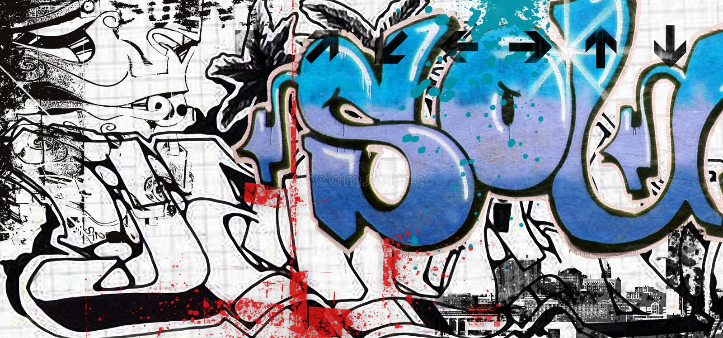 Art de graffiti illustration stock