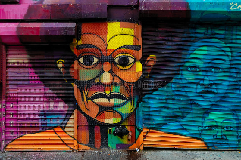 Art de graffiti dans Harlem, NYC image stock