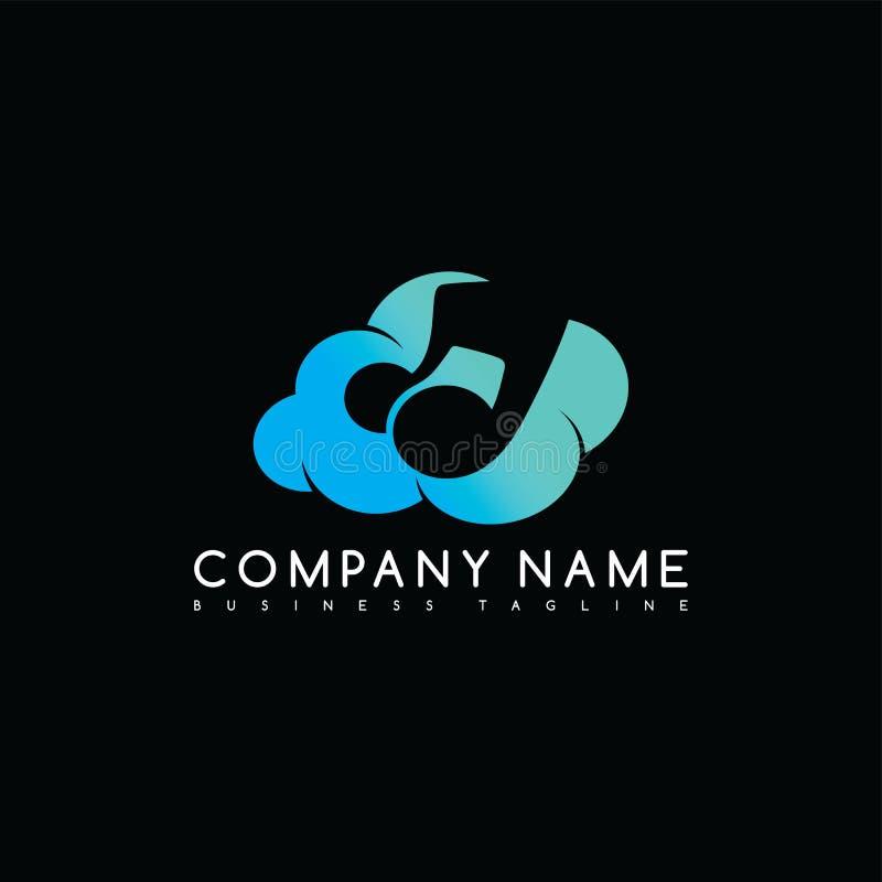 art de logotype de logo de calibre de société de marque de nuage de musique illustration libre de droits