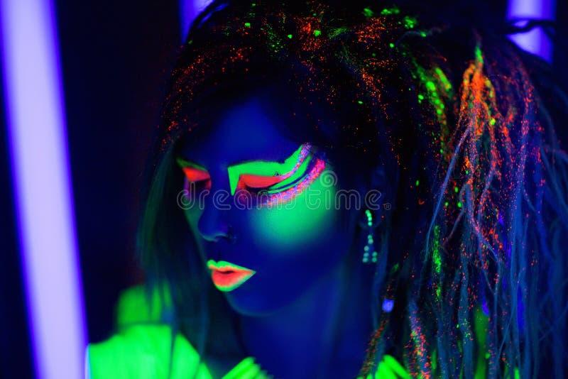 Art de néon de femme photos libres de droits