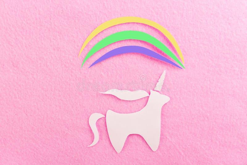 art de papier d'une licorne photo libre de droits