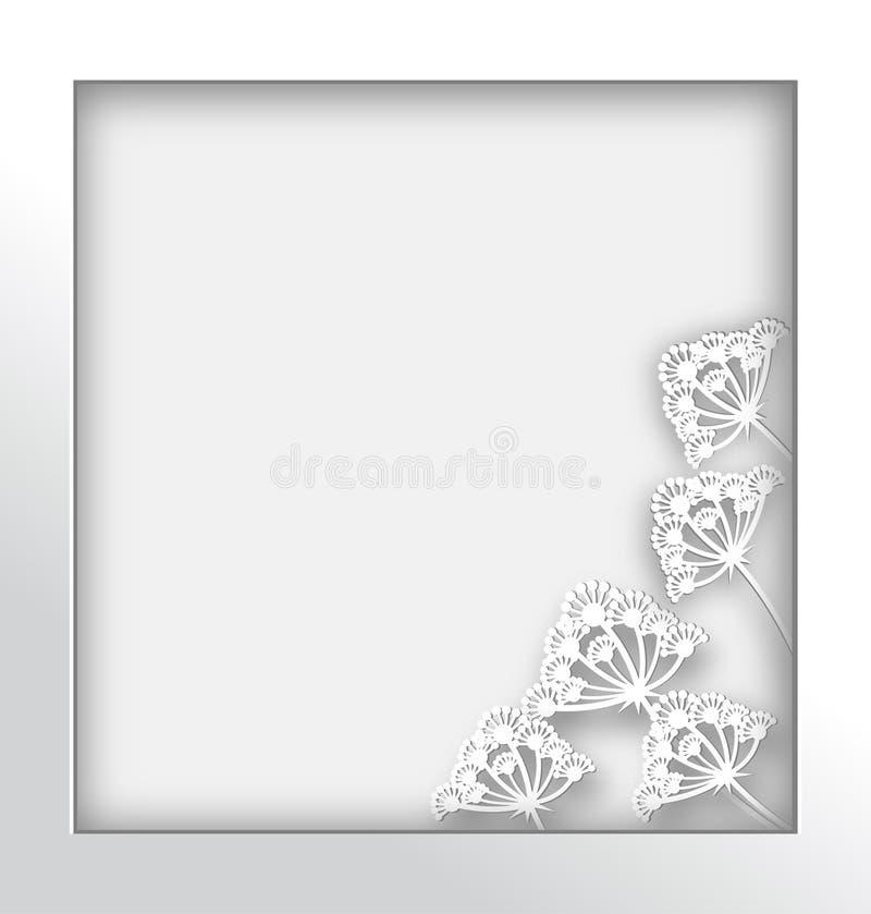 Art de papier de fleur de pissenlit et style de métier photographie stock libre de droits