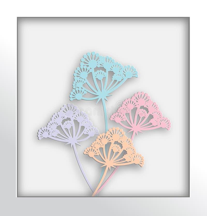 Art de papier de fleur de pissenlit et style de métier photo stock