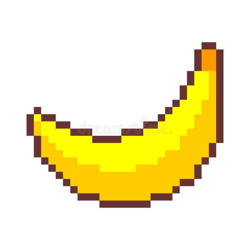 Art de pixel de banane fruit pixelated Vieux graphiques de jeu grande illustration de vecteur de 8 bits illustration libre de droits