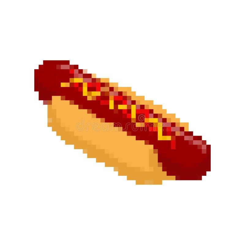 Art De Pixel De Hot-dog Prêt-à-manger Pixelated Aliments De Préparation Rapide D'isolement ...