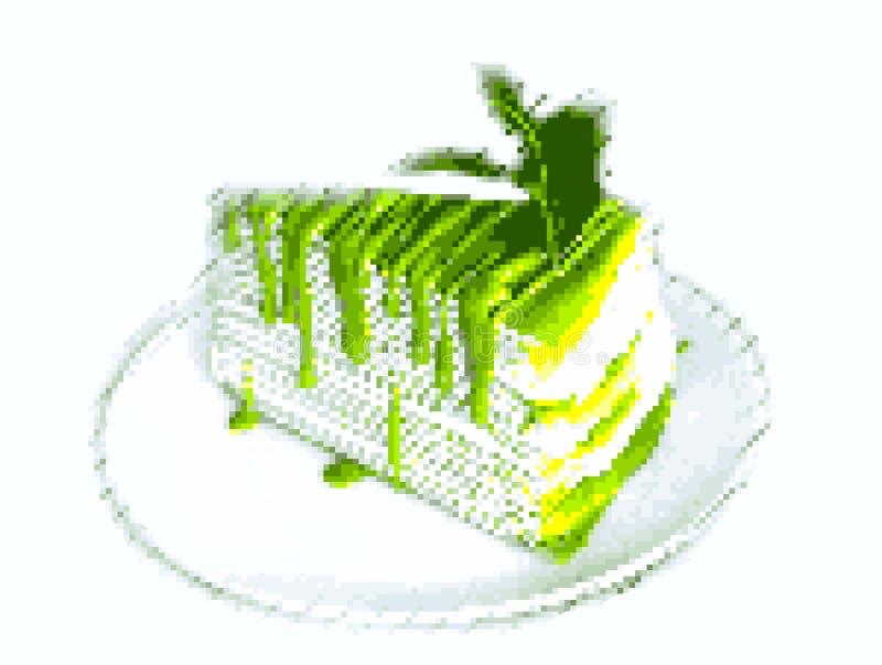 Art de pixel de gâteau image stock