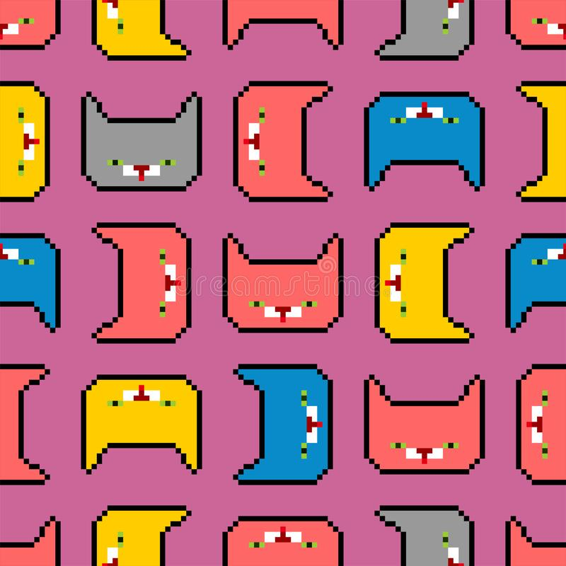 Fond De Chat De Pixel Illustration De Vecteur Illustration