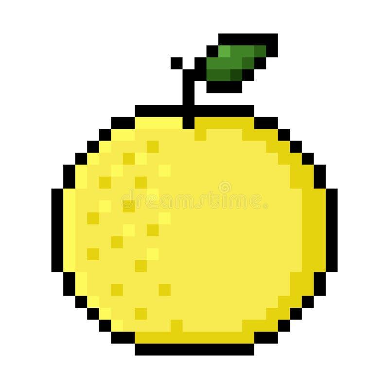 Art de pixel de pamplemousse illustration stock