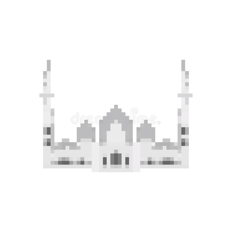 Art de pixel de Taj Mahal Bit du point de repère 8 d'Âgrâ Showplace Pixela de l'Inde illustration libre de droits
