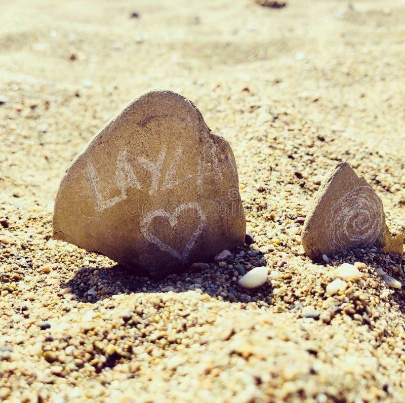 Art de plage images libres de droits