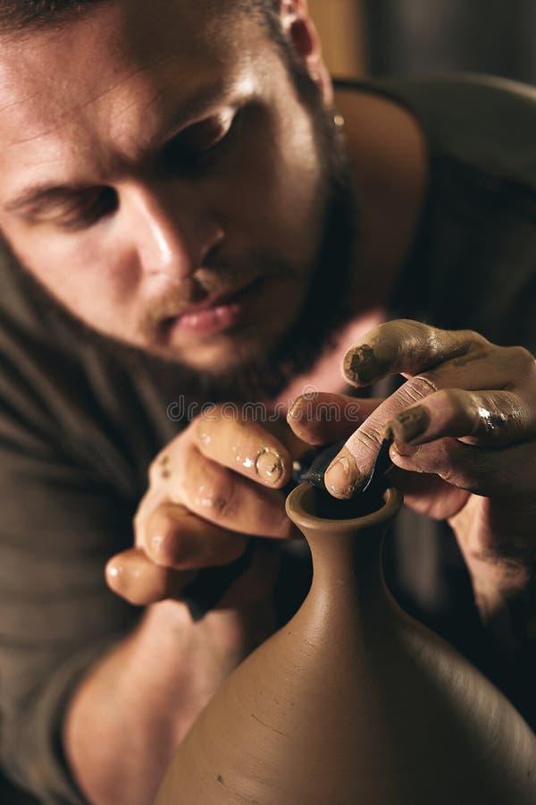 Art de poterie, produit d'argile, bâti photographie stock libre de droits