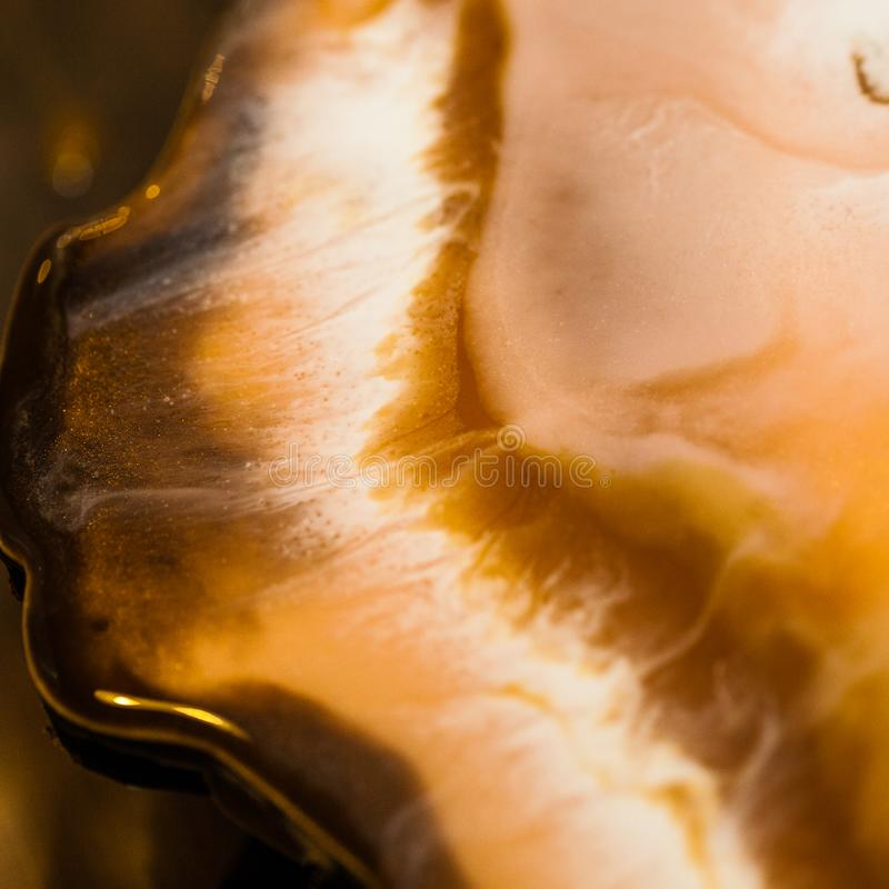 Art de résine époxyde Composition abstraite pour votre conception Macro photo photos stock