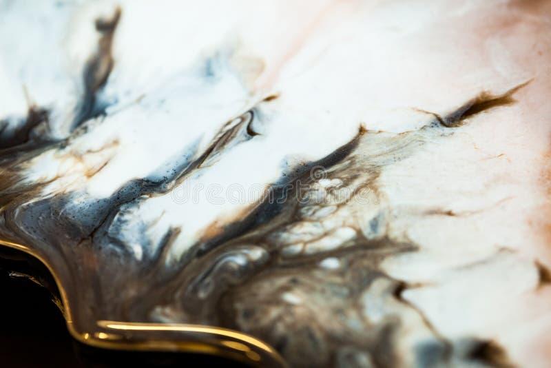 Art de résine époxyde Composition abstraite pour votre conception Macro photo photographie stock libre de droits