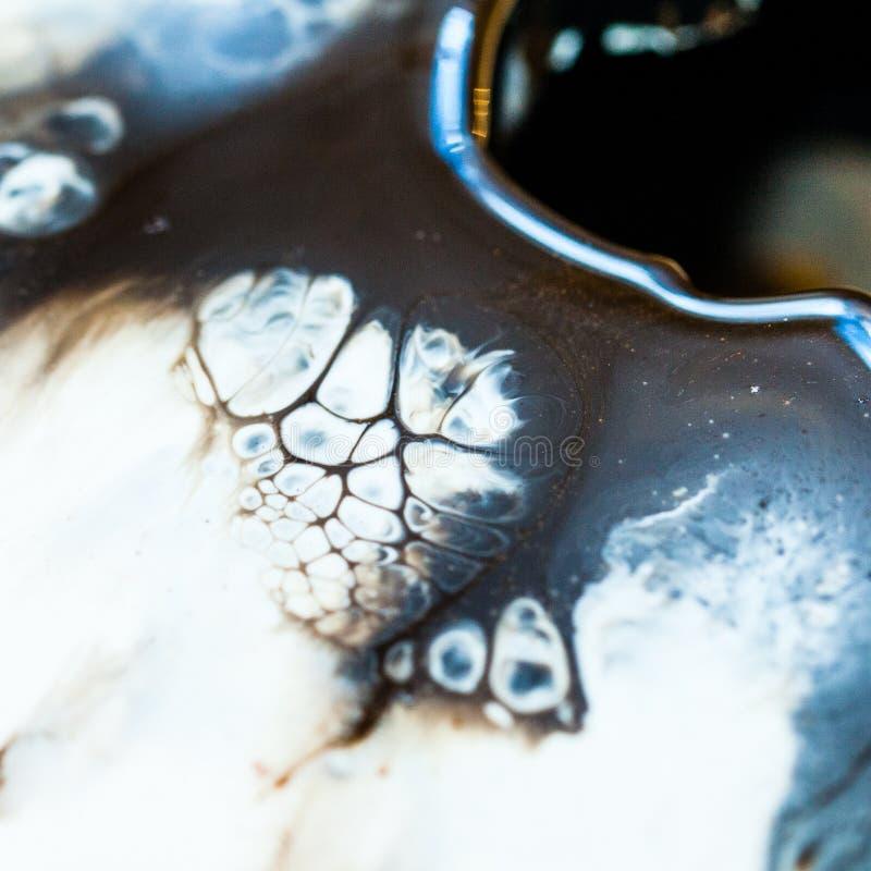 Art de résine époxyde Composition abstraite pour votre conception Macro photo photographie stock
