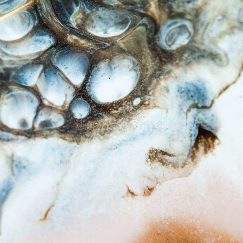 Art de résine époxyde Composition abstraite pour votre conception Macro photo photos libres de droits