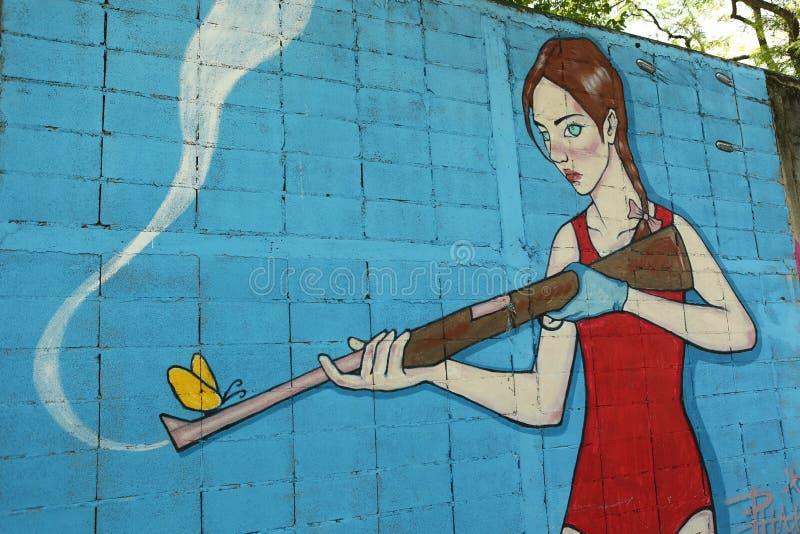 Art de rue à Bangkok Thaïlande images libres de droits