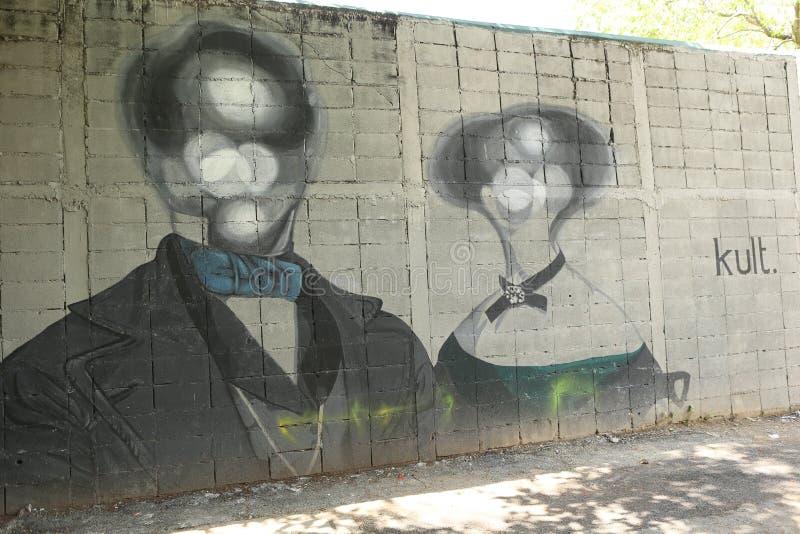 Art de rue à Bangkok Thaïlande photographie stock libre de droits