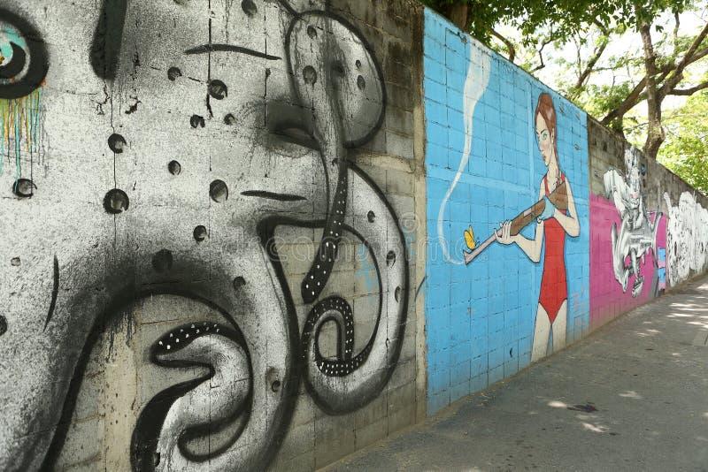 Art de rue à Bangkok Thaïlande photo stock
