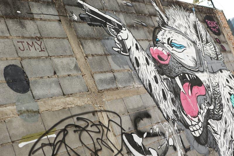 Art de rue à Bangkok Thaïlande photos stock