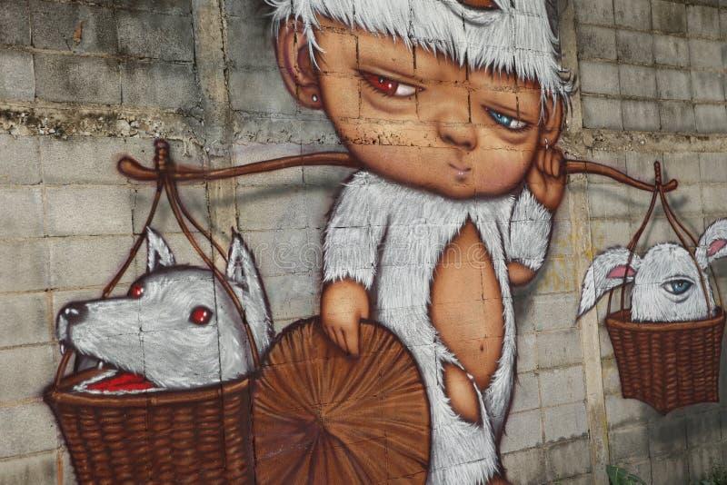 Art de rue à Bangkok Thaïlande photo libre de droits