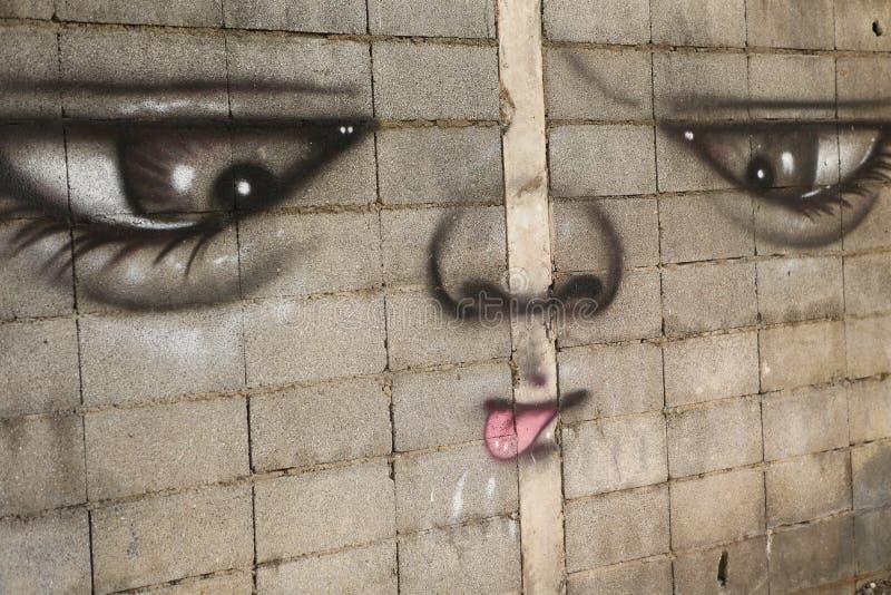 Art de rue à Bangkok Thaïlande image stock