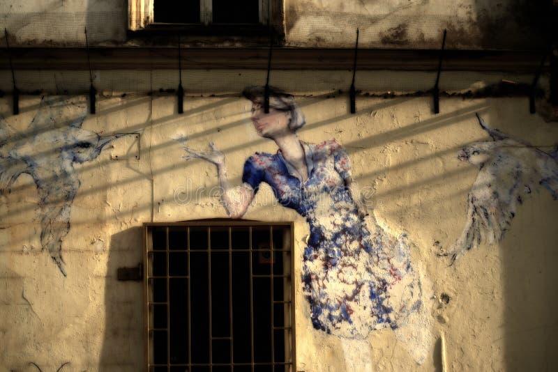 Art de rue à Cracovie image stock