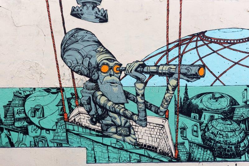 Art de rue à Paris, France photo stock